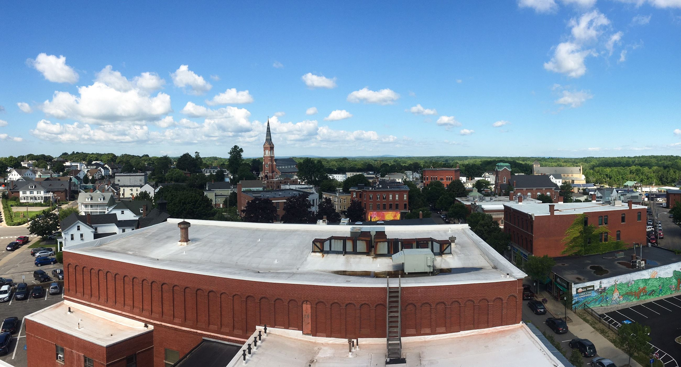 View of Downtown from Clock Tower at City Hall