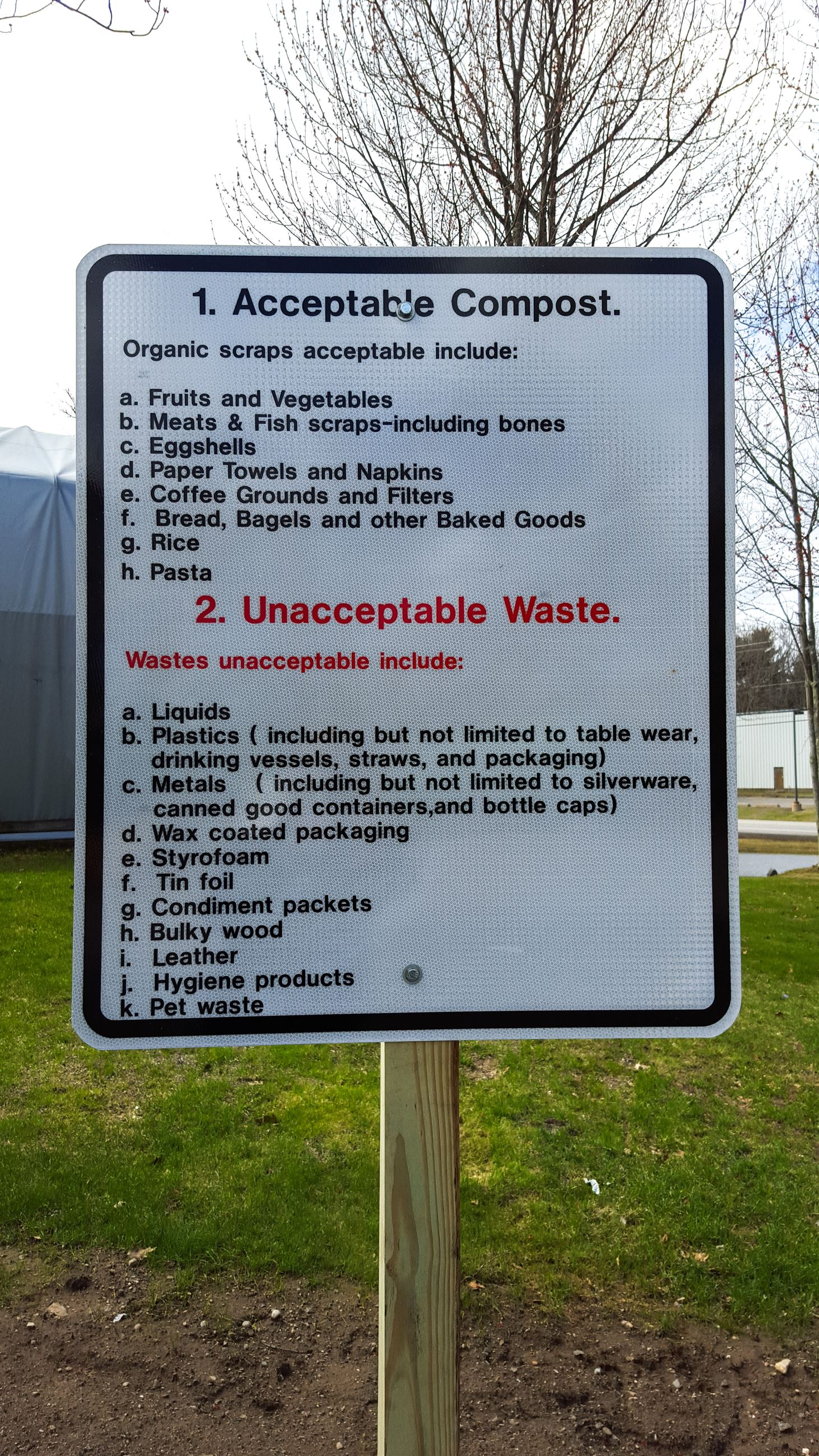Accepted Compost Sign