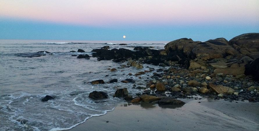 Blue Moon over Fortune's Rocks Beach