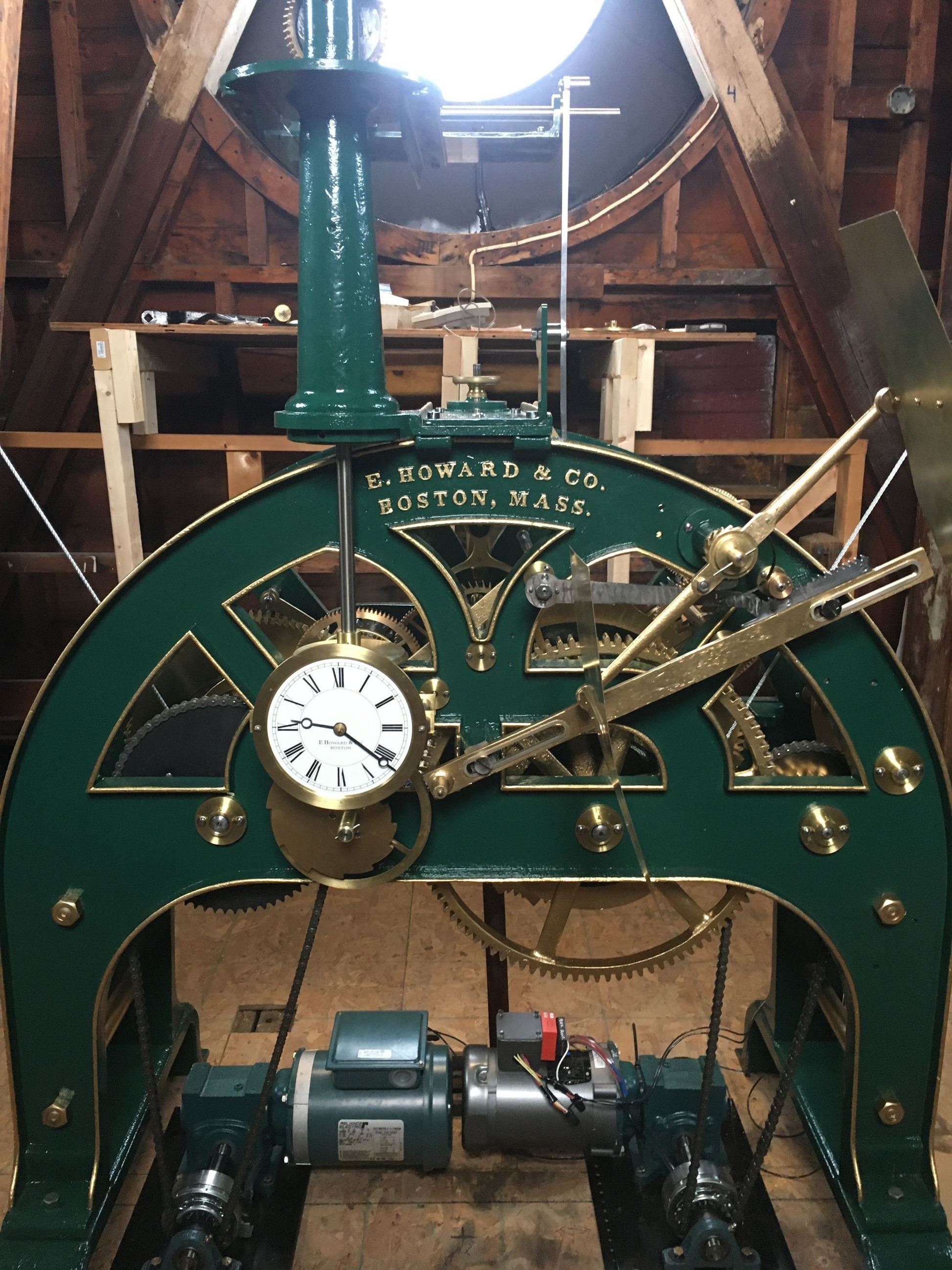 Restored City Hall Clock in Tower
