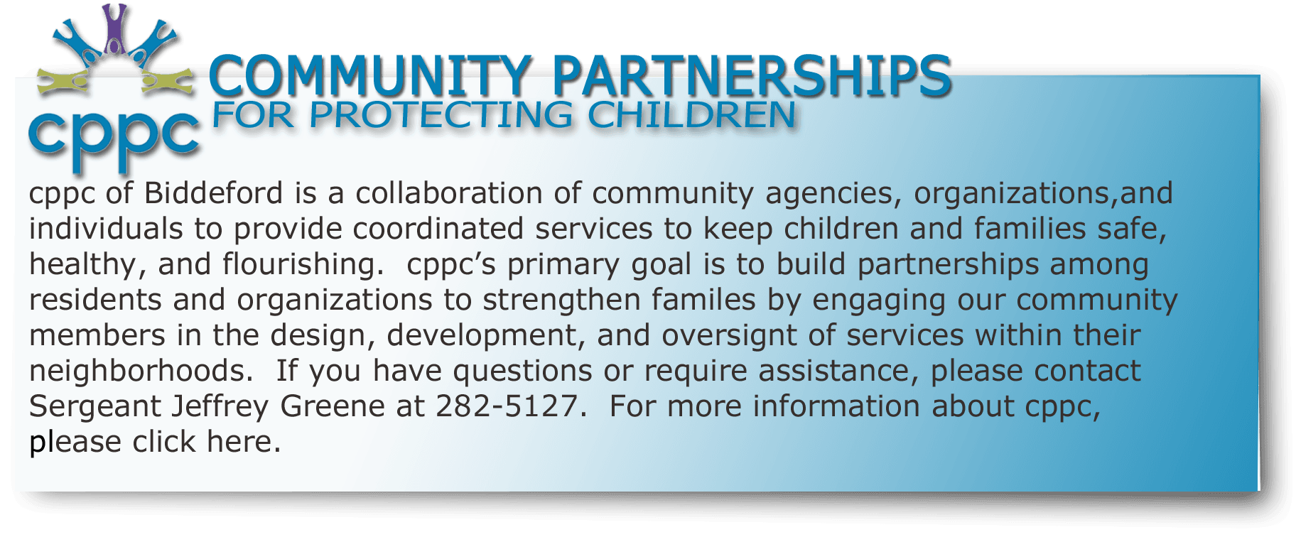 Community Partnerships for Protecting Children (CPPC)