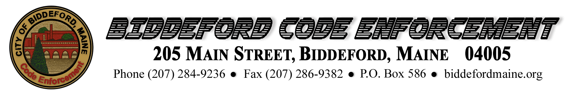 CODE ENFORCEMENT MASTER LETTERHEAD IMAGE April 2, 2020