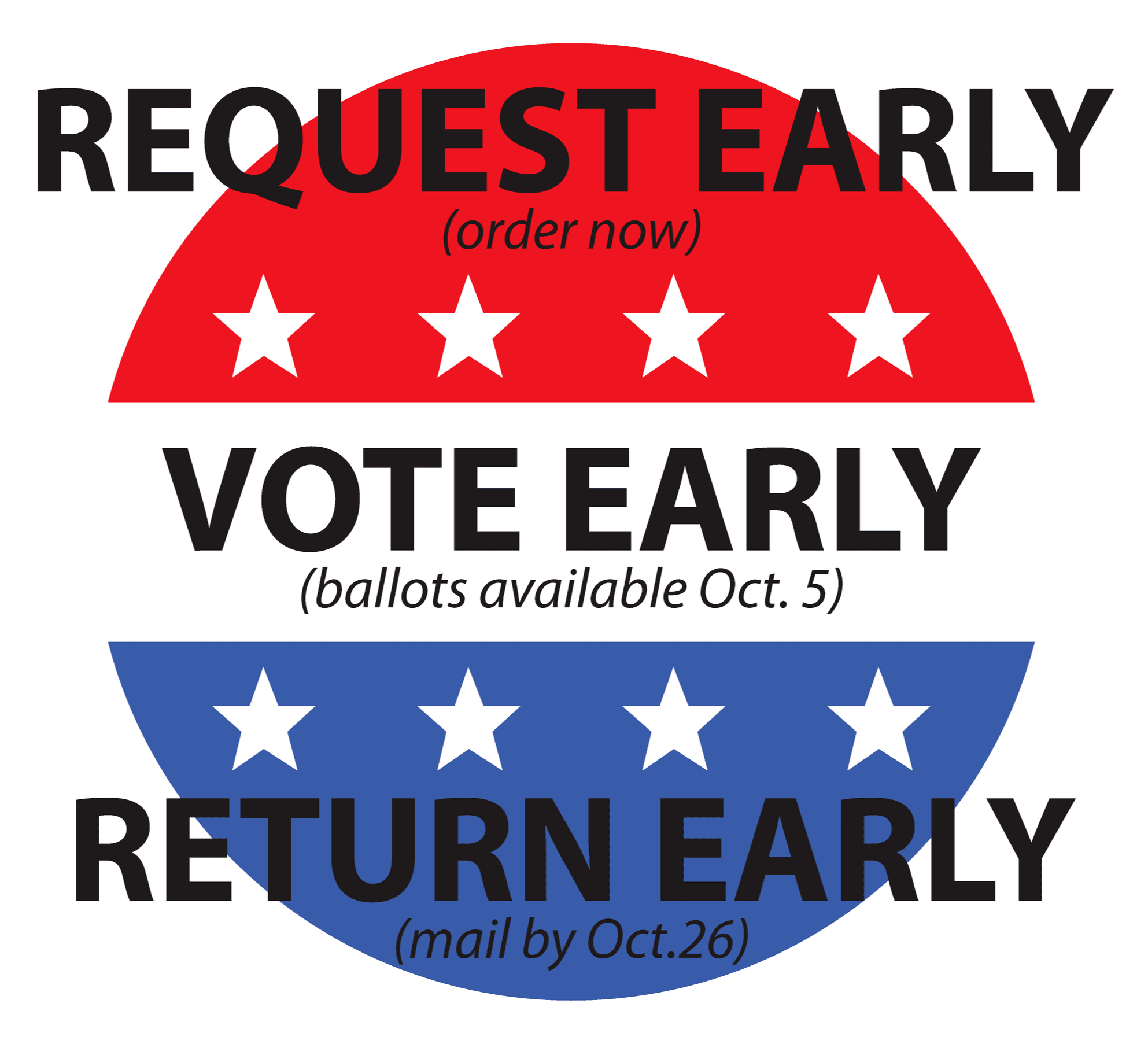 Request Early, Vote Early, Return Early Logo