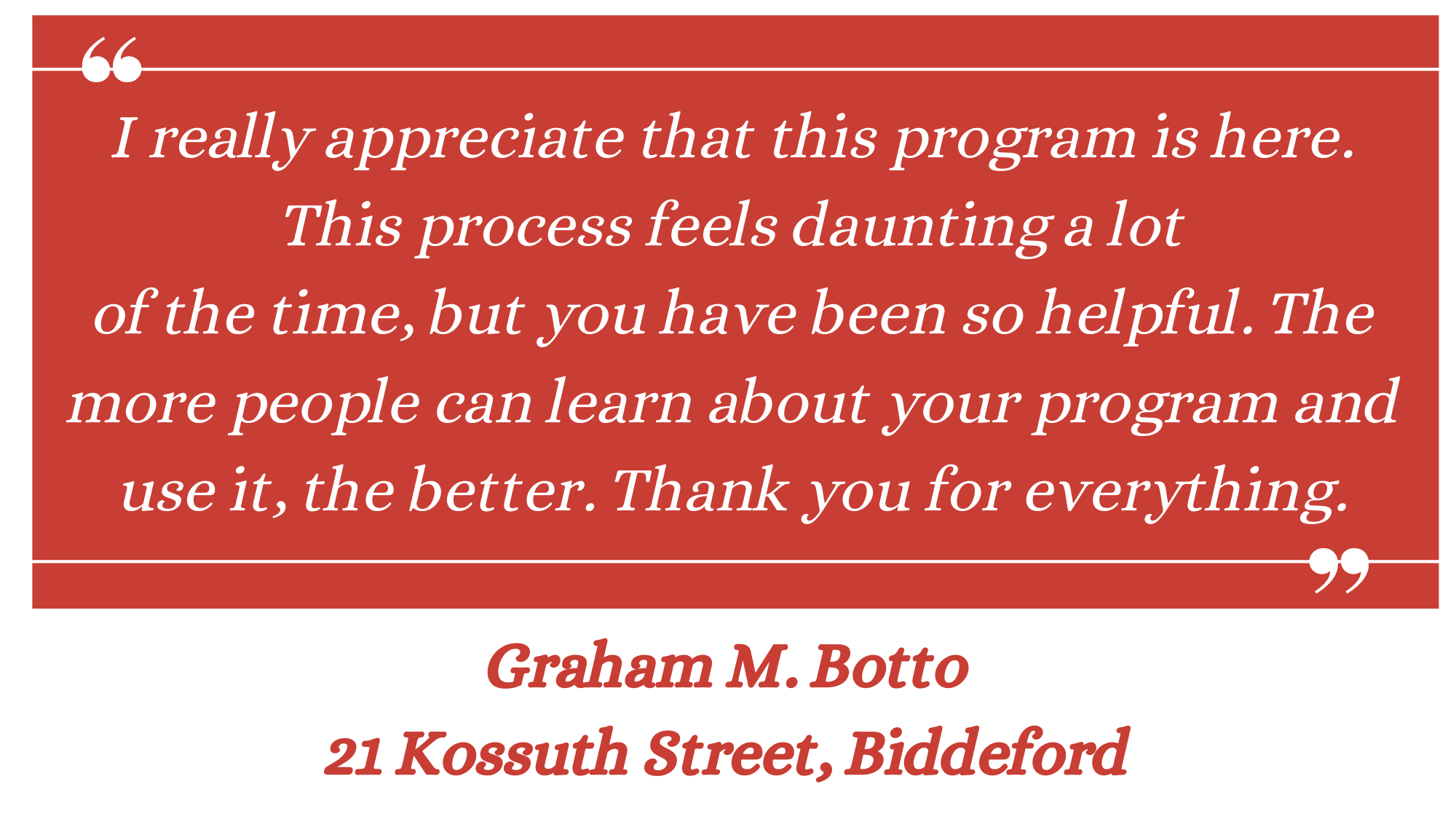 Graham M. Botto Lead Testimonial