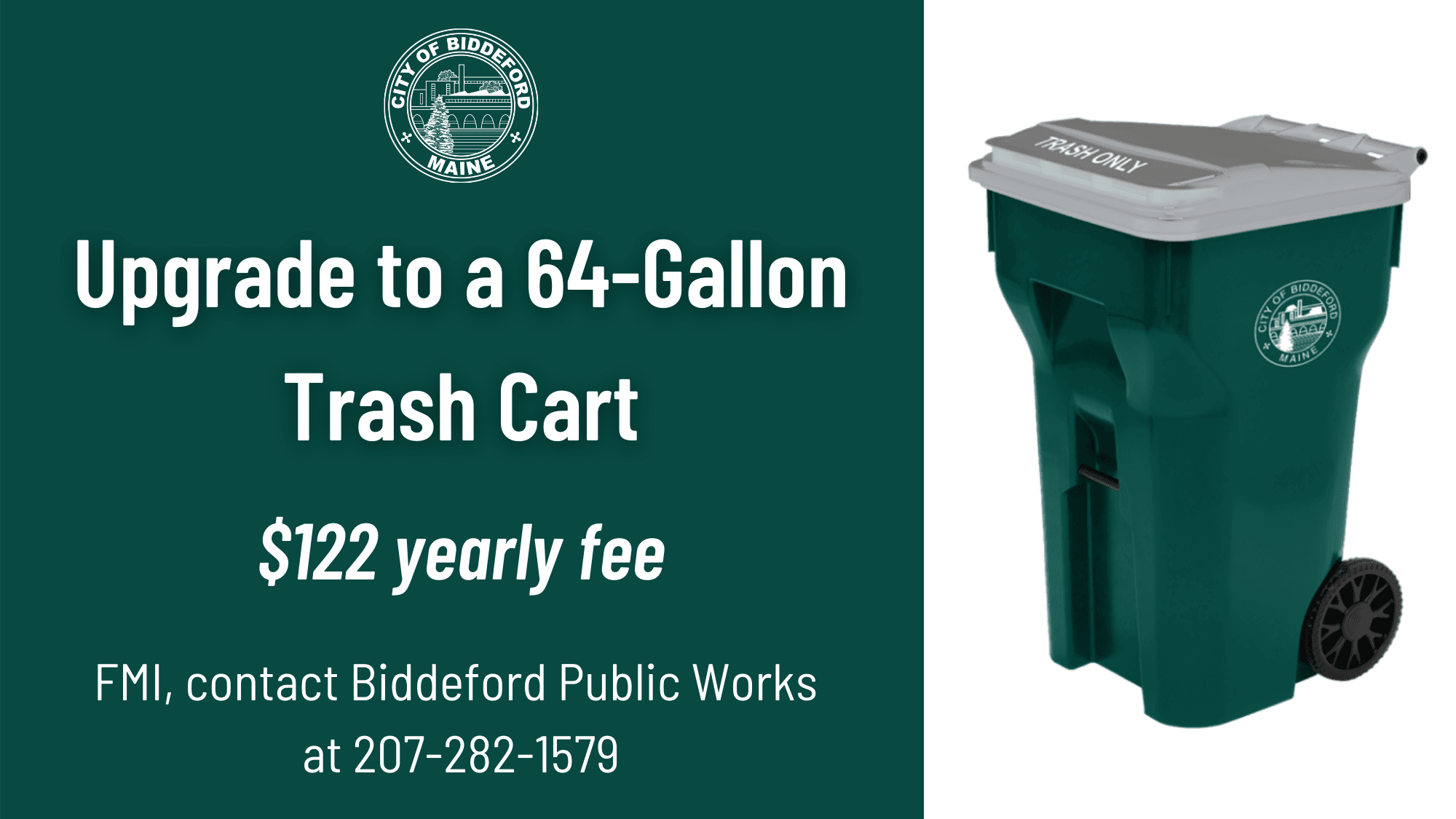 Upgrade to a 64-Gallon Trash Cart