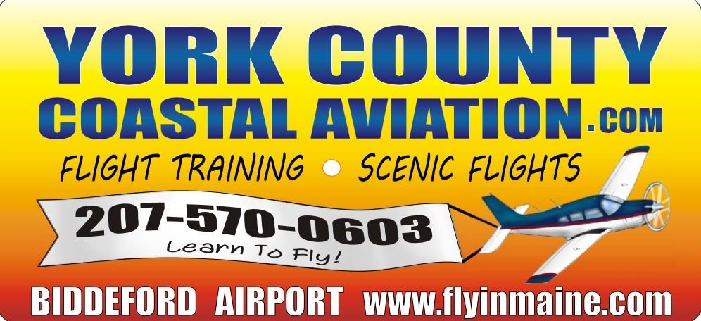 Visit the York County Coastal Aviation Website - Flight Training, Scenic Flights - Call 207-570-0603