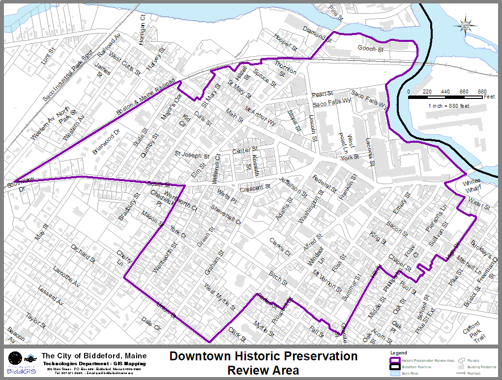Downtown Historic Preservation Review Area Map
